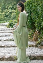 Rivendell Elf cosplay - Sage green dress VIII by ArwendeLuhtiene