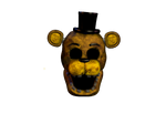 Repaired Golden Freddy Head (Black eyes) by Ebkas1