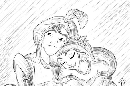 Jasmine And Aladdin by WaywardWarriorDesign