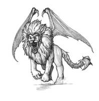 Manticore by SilverLeon88