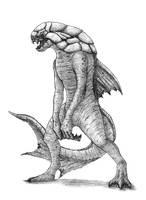Archeomerfolk (Dunkleosteus Triton) by SilverLeon88