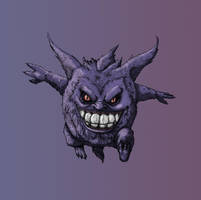 Gengar_Ghost/Poison by SilverLeon88