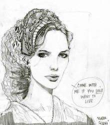 queen cersei sketch 06.02.2011 by tomasoverbai