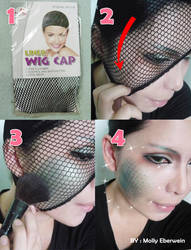 Scale creature skin makeup tutorial by mollyeberwein