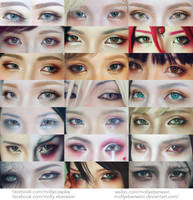 Cosplay eyes make up collection #5 by mollyeberwein