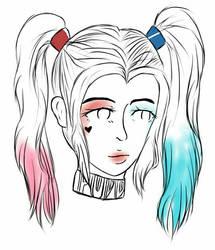 Harley Quinn Doodle by MelancholyKillJoyDuo