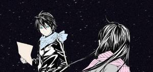 Hiyori and Yato - Noragami by NateJohnson