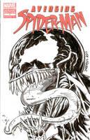 Avenging Spider-man ish 1 Sketch Cover - Venom by ElfSong-Mat