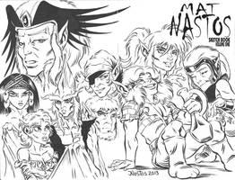 ElfQuest: Siege on Blue Mountain sketchcover by ElfSong-Mat