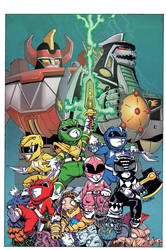 Power Rangers Issue 3 Variant Cover by ElfSong-Mat