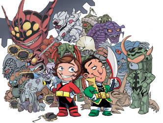 Chibi Rangers - Adventures of Alex and Azim by ElfSong-Mat