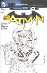 Harley Quinn Sketchcover Commission by ElfSong-Mat