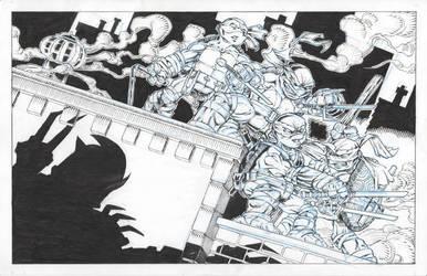 Teenage Mutant Ninja Turtle high-end print piece by ElfSong-Mat