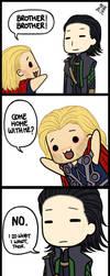 Nyoron Thor and Loki by subaru87