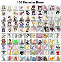 100 Character Meme by astroasis