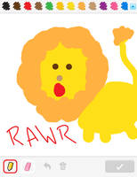 Lion on DrawSomething by astroasis