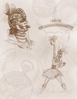 Rabbit doodles by PiuPiu-Littlebird