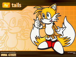 tails: Desktop Background by playwithcolour