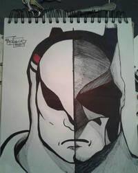 batman vs blue falcon billionaire fight by gabrielsart89