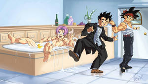 :Commission/Trunks in the bathtub by PhantomStudio-Tommy