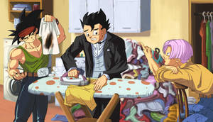 :Commission/ Gohan Ironing by PhantomStudio-Tommy