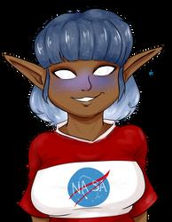 Meet Astrid, The Curious Alien by BleachedKitten