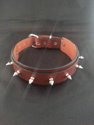 Spike BDSM Leather Collar by Vkarmoury