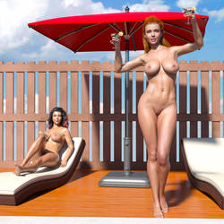 Poolside party... by AlexArts-3D