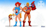 He-Man and Lion-O by MikeBock