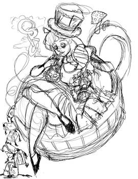 Twisted Princess: Alice WIP by danidipps