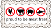 Proud to be meat free by angryfroggirl