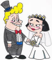 Lucky Bob and Cho-Cho's Wedding by nintendomaximus