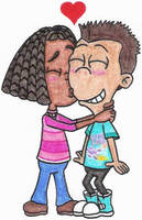 Libby Giving Sheen a Kiss by nintendomaximus