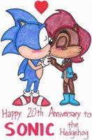 Happy 20th Birthday to Sonic by nintendomaximus