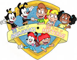 Animaniacs and Histeria's Anniversary Picture by nintendomaximus