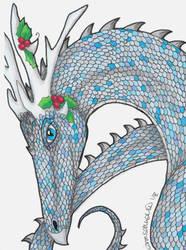 Yule Dragon by totemwolfie
