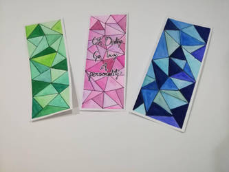 Watercolour bookmarks by GraceLee583