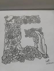 Letter G zendoodles by GraceLee583