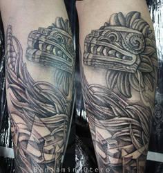 Quetzalcoatl Tattoo By Benjamin Otero By Needtobleed On Deviantart
