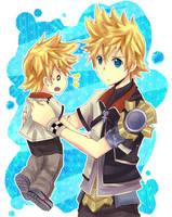 Ven and Roxas by ikiru-san