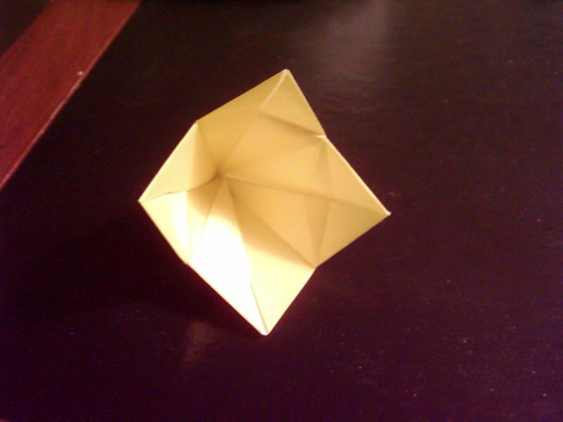 Yellow Origami Bell Flower By Whiterosa84 On Deviantart