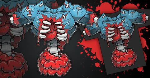 Only Skin Deep: T-Shirt Design by Lysol-Jones