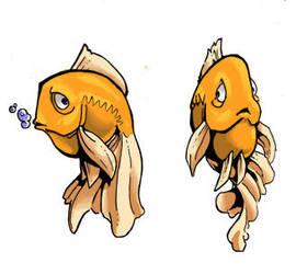 goldfish by Lysol-Jones