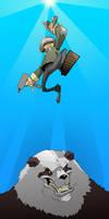 Juan battles the panda by Lysol-Jones