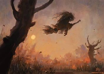 Witch Sketch by MattDixon