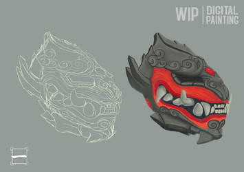 Wip - Digital Painting Asian Drake by woner-infographiste