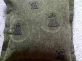 Green Dalek Pillow by SewAndSew