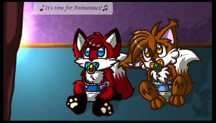 Fang and Chris: T.V Time by BabyChrisFox