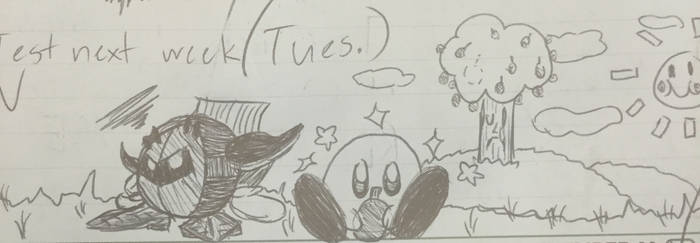 Meta Knight and Kirby by TheWilliamOwens