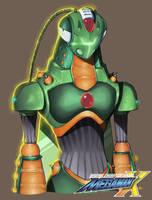 Megaman X Boss OC: Nuclear Blast Hopper by Exerionz